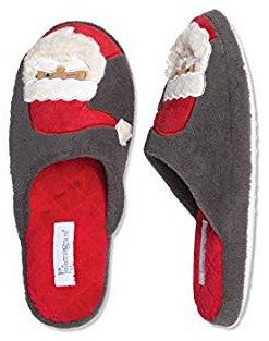 Red and gray Santa Claus slippers