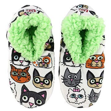 Cat Lover Fuzzy Feet Slippers By LazyOne