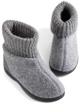 Memory foam bootie slippers