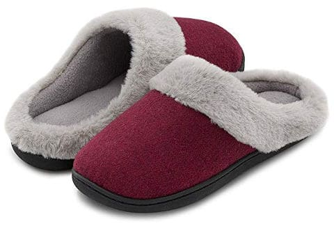 Memory foam slippers for ladies