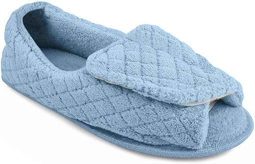 Wide Fit Open Toe Slippers For Ladies