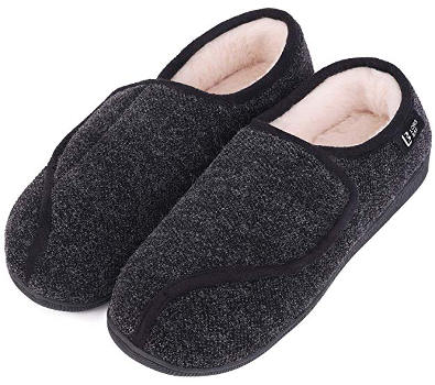 Women's slippers for wide swollen feet