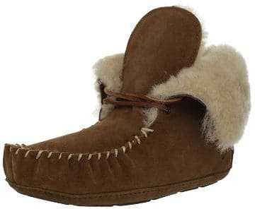 Acorn sheepskin bootie slippers
