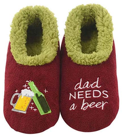 Beer lover slippers for dad