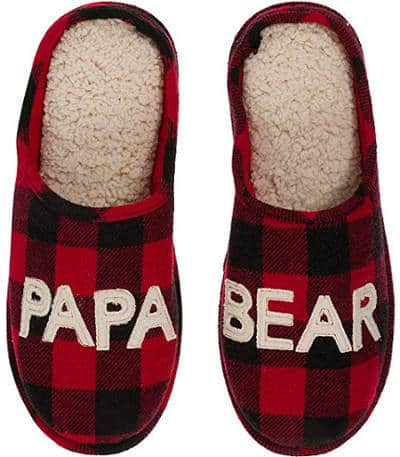 Funny novelty papa bear slippers for dad