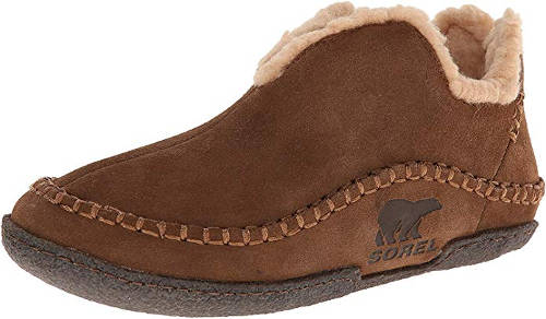 Leather bootie slippers for men