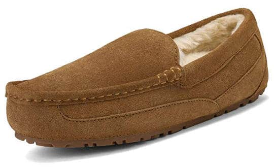 Loafer moccasin slippers for men