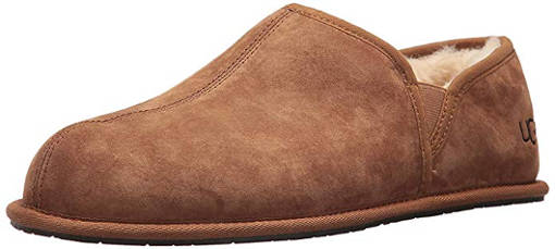 Men's suede scuff slippers