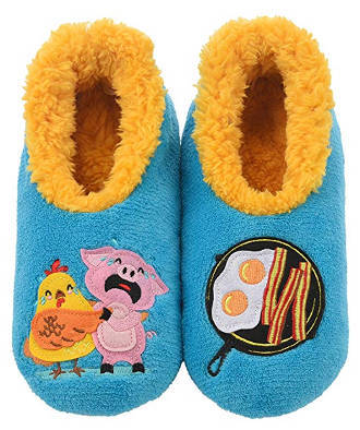 Snoozies Pairables Women's Slippers With Chicken & Pig