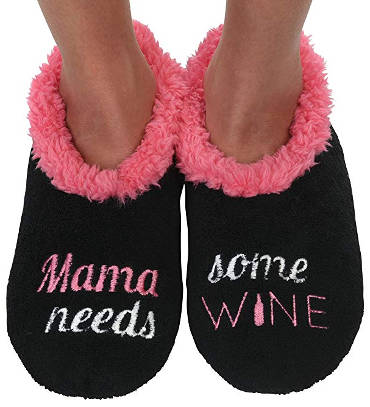 Wine lover mother's day gift slippers