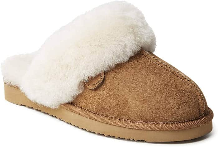 Dearfoams Shearling Women's Scuff Slippers