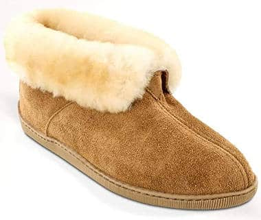 Minnetonka Men's Sheepskin Ankle Boots