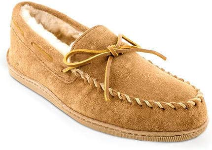Minnetonka Shearling Moccasin Slippers
