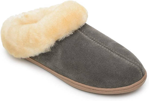 Minnetonka Shearling Mule Slippers