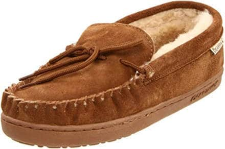 Shearling mens slippers
