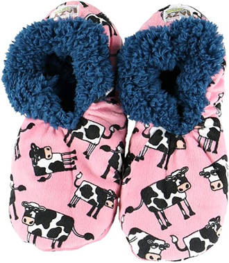 Lazy One Cow Slippers For Women