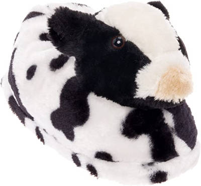 Silver Lilly Cow Slippers